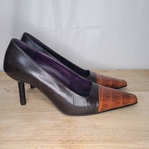 Bruno Magli Italian Leather Pointed Toe Heels